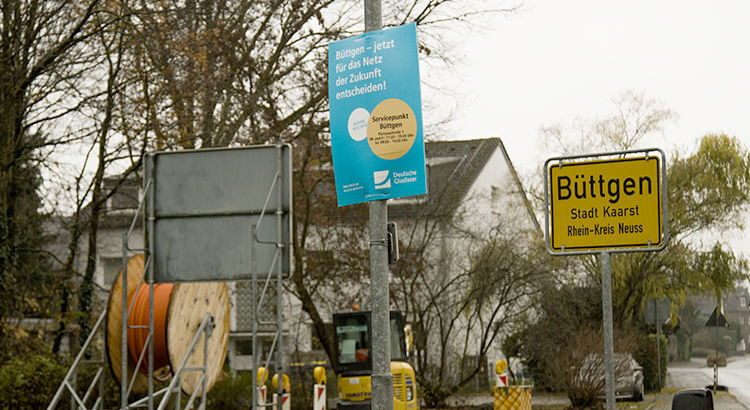 Glasfaser Ausbau in Büttgen